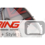 Brake Light Set: LED Union Jack w/ Red Accents