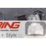 Brake Light Set: LED Union Jack w/ Grey Accents