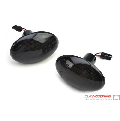 LED Side Marker Lights: Black: R55/6/7/8/9