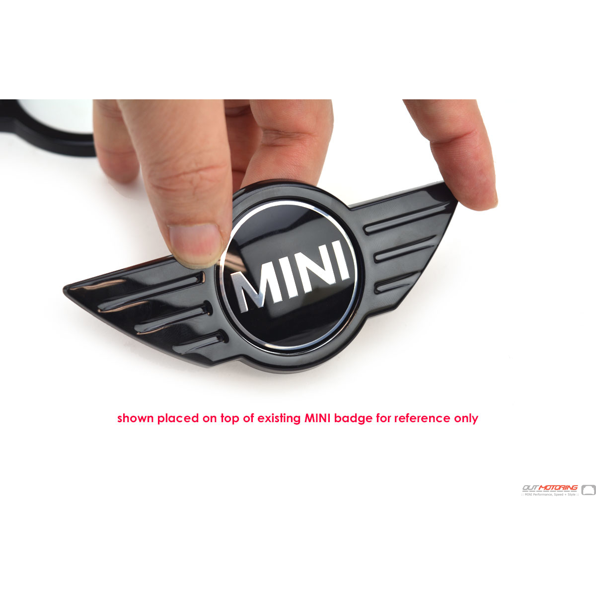 MINI Cooper Gloss Black WIngs OLD Logo Emblem Cover R50