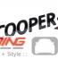 """Cooper S"" Emblem: Gloss Black Genuine"