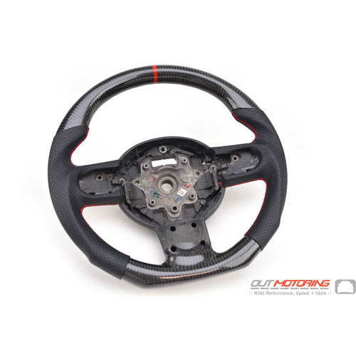 Steering Wheel: Carbon Fiber + Perforated Leather: Gen2 Manual