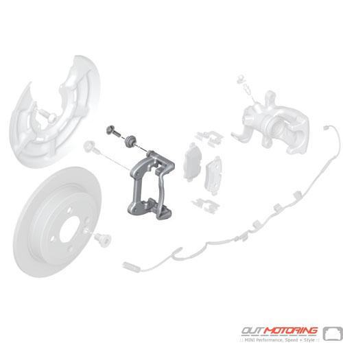 Brake Caliper Bracket: Rear  USED