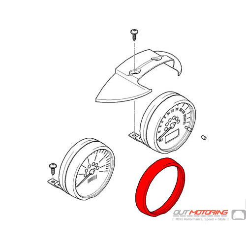 Trim Ring: Steering Column: Chrome USED