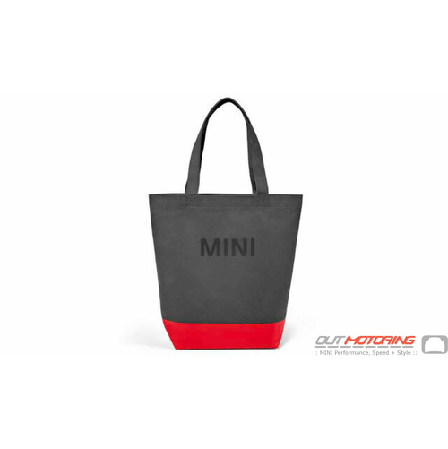 Shopping Tote: Grey/Coral