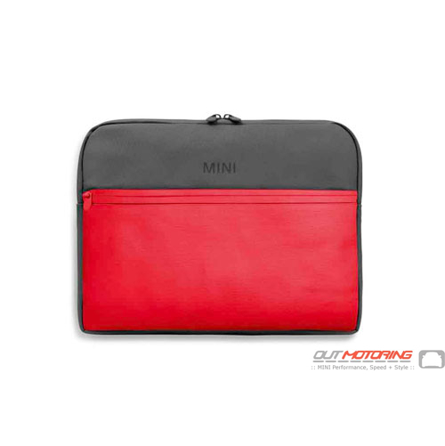 Mini Color Block Laptop Sleeve-Grey/Coral