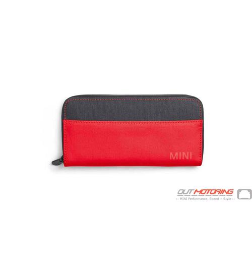 Wallet: Grey/Coral