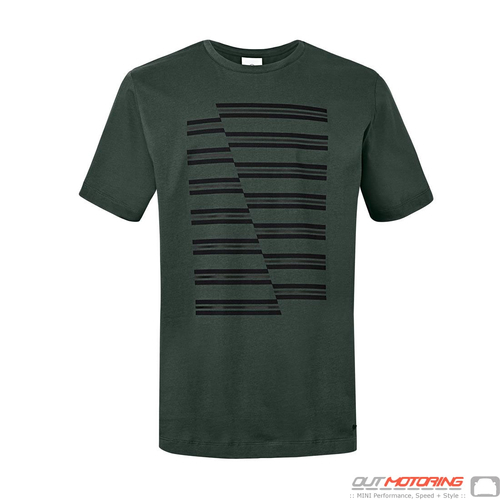 MINI JCW Men's Stripes T-Shirt Racing Green