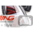 LED Rear Tail Lights: Grey + Red Union Jack: R56/7/8/9