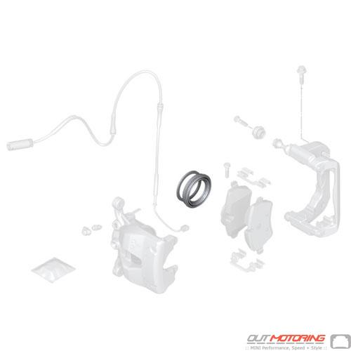 Brake Caliper Repair Bushing Set: Front TRW
