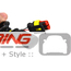 LED Front Driving Light Kit: Halo Style