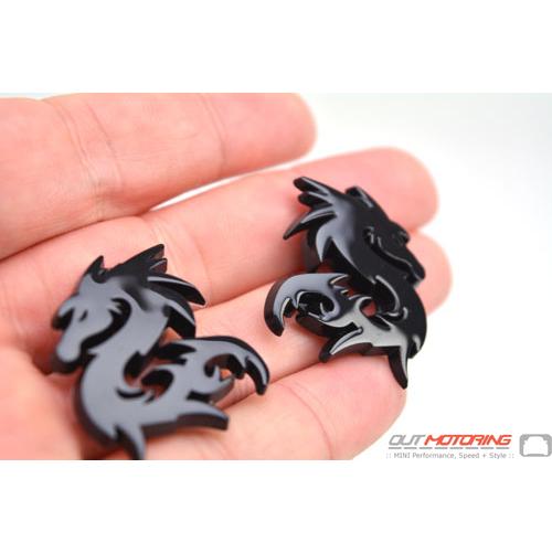 Dragon Badges: Small Black