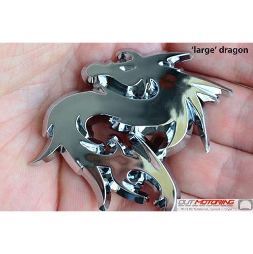 Dragon Badge: Large Chrome