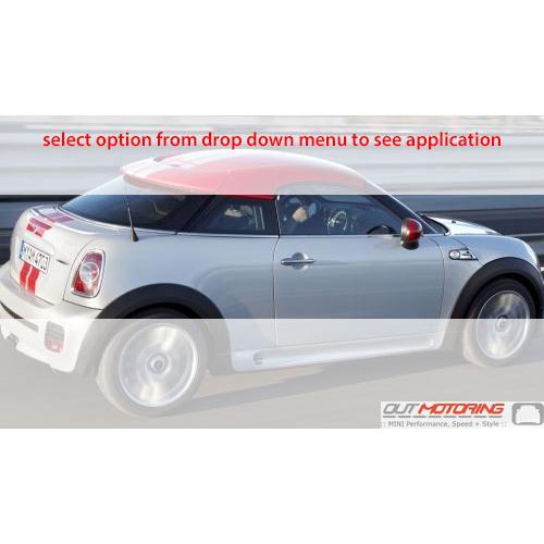 Chrome Beltline Trim: R58 Coupe