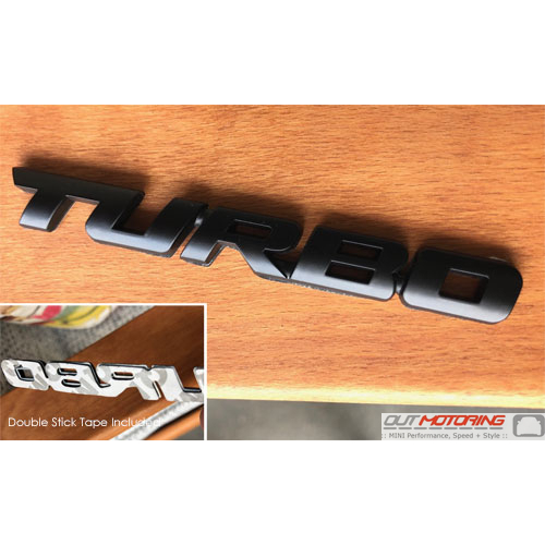 Turbo Badge: Black: Caps