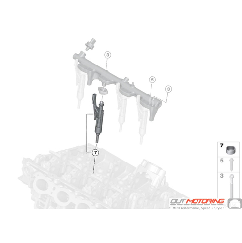 High Pressure Rail: JCW: RP Injector