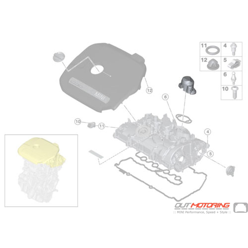 Cylinder Head Cover: JCW: High-Pressure Pump Cover
