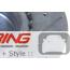 Brake Rotors: OEM JCW Cross Drilled + Slotted: Front Pilenga