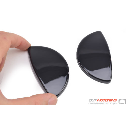 Headlight Washer Covers: Gloss Black: R55/6/7/8/9