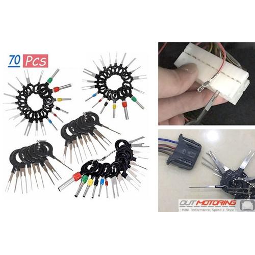 76 Piece Electrical Socket Terminal Release Set