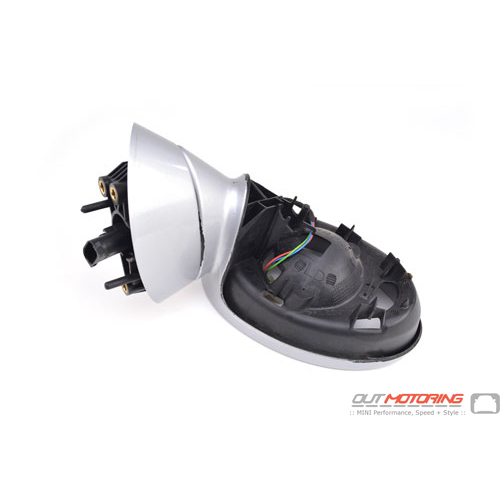 Side Mirror Housing: Silver: Left: USED