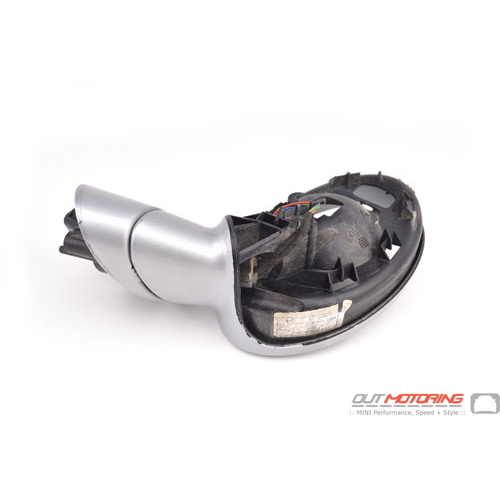 Side Mirror Housing: Silver: Right: USED