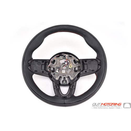 Custom Steering Wheel: Red Stitching: Gen 3