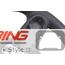 Custom Steering Wheel: Red Stitching: Gen 1 Paddle Shift
