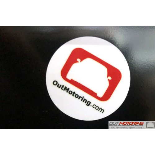 """Out Motoring Sticker: 1.5"""" Round Punchout"""