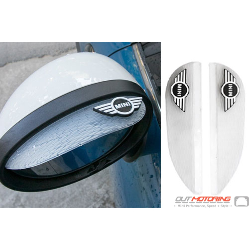 Side Mirror Shades: MINI Wings White
