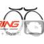 Headlight + Taillight Trim Replacement Set: Gloss Black: F55/56/57